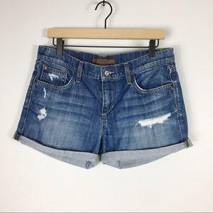 Joe's Jeans Samara Destructed Cuffed Denim Shorts